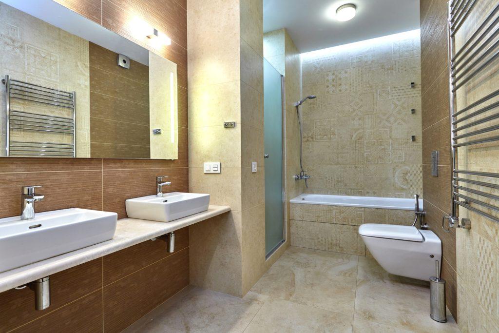 Shades of Brown Bathroom