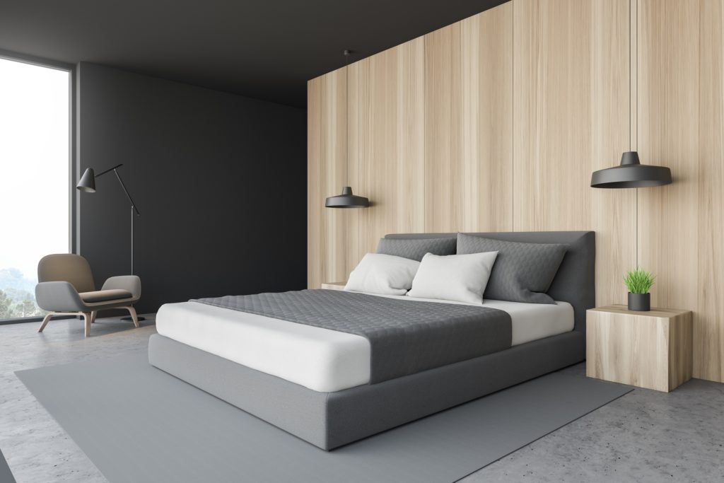 Simplistic Mansion Designer Bedroom with Contemporary Chic Style