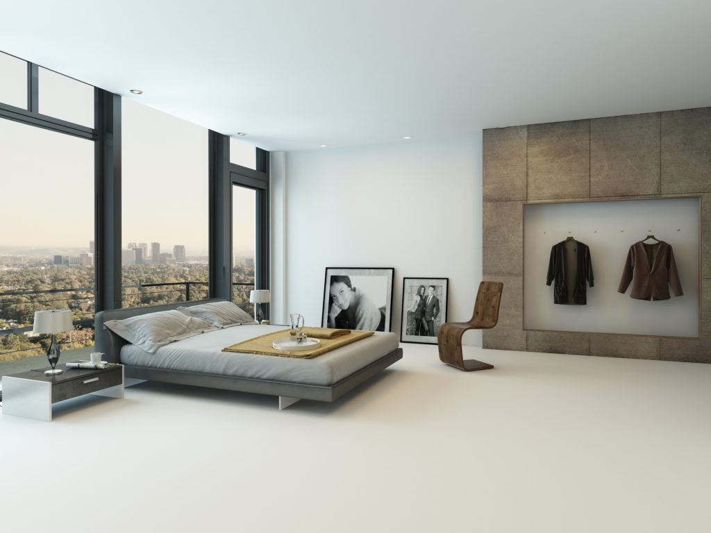 Spacious Mansion Bedroom with Stunning Window Wall