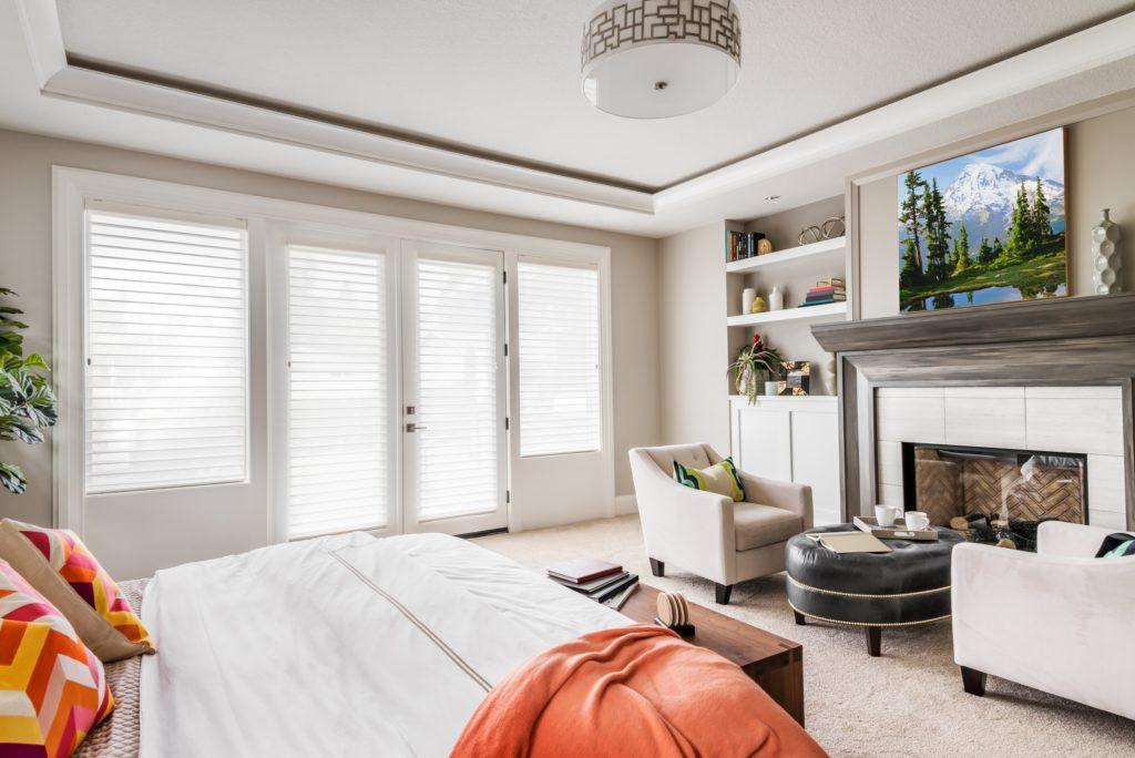 Spacious Master Bedroom in Elegant Modern Mansion