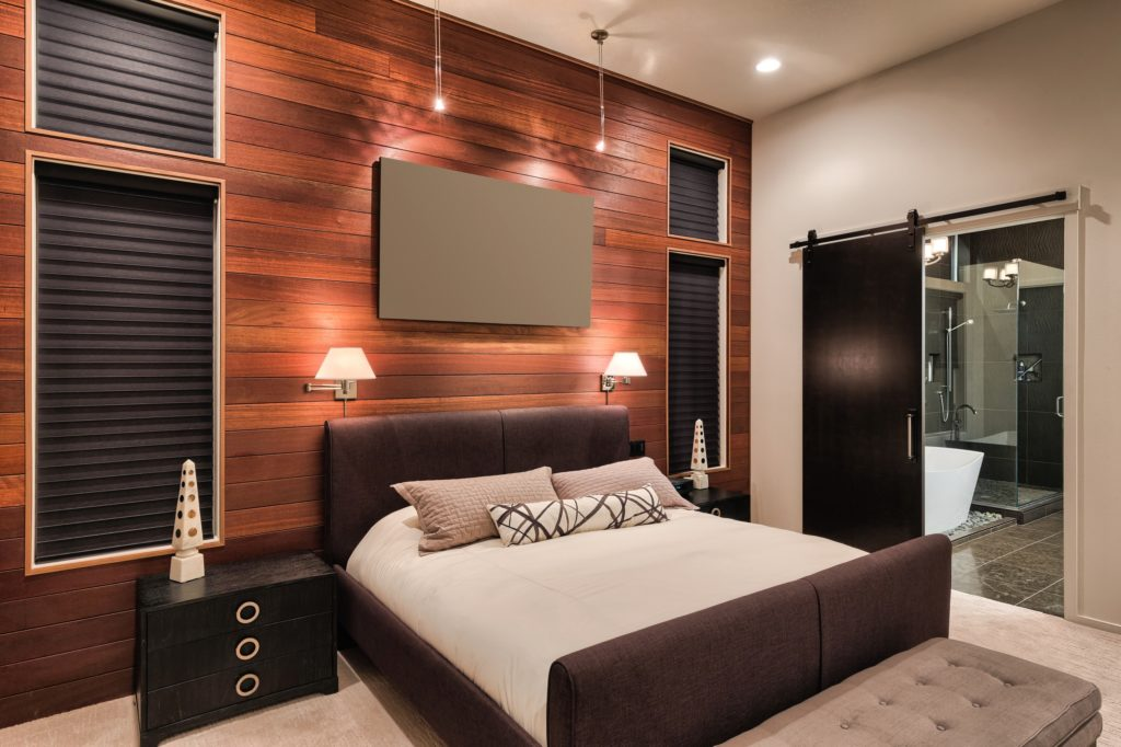 Stunning Mansion Master Bedroom with Dynamic Natural Beauty