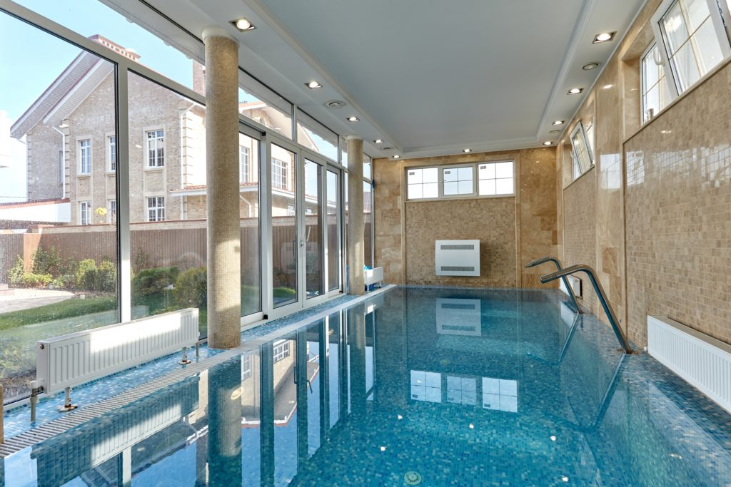 Tan Indoor Swimming Pool