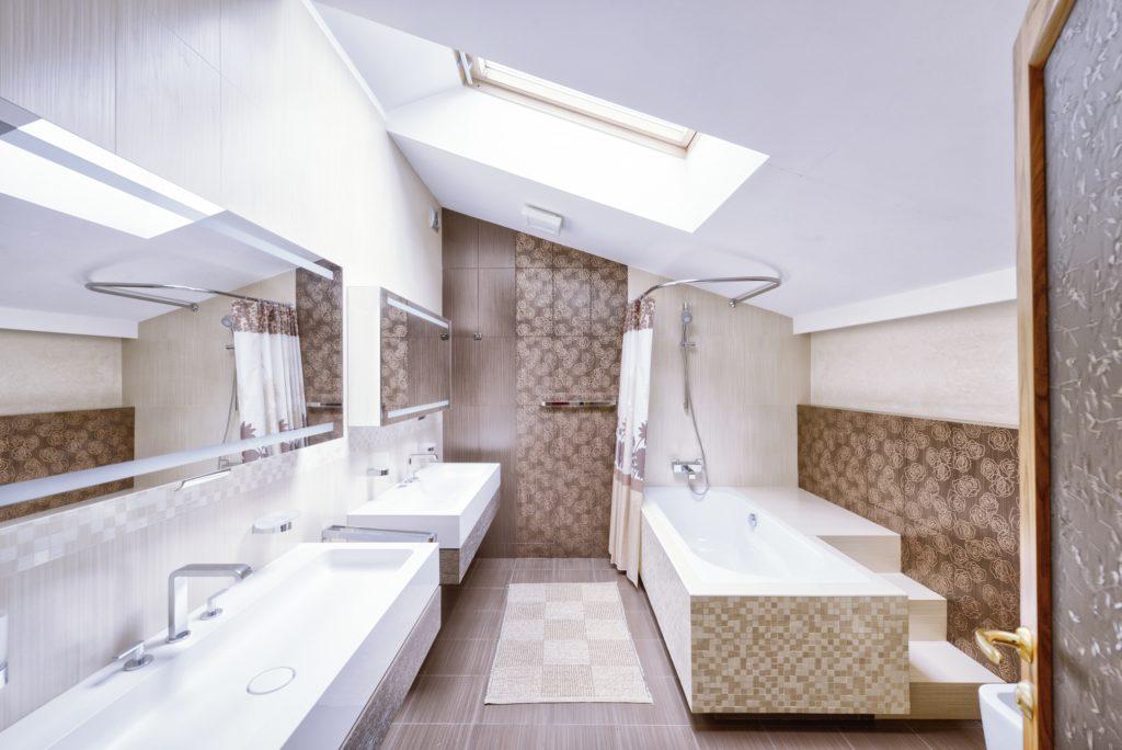 Tan Mansion Bathroom