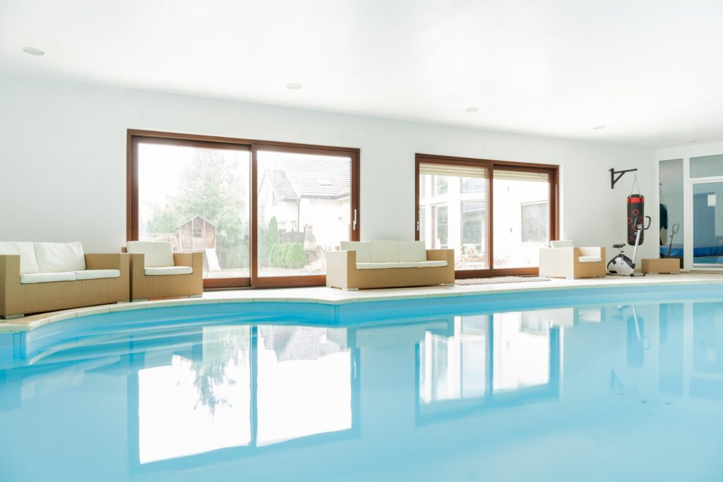 White Indoor Swimming Pool