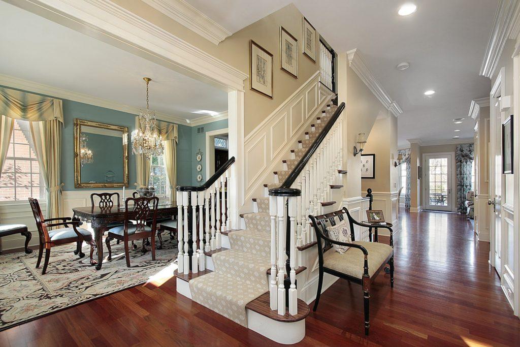 White Staircase Foyer