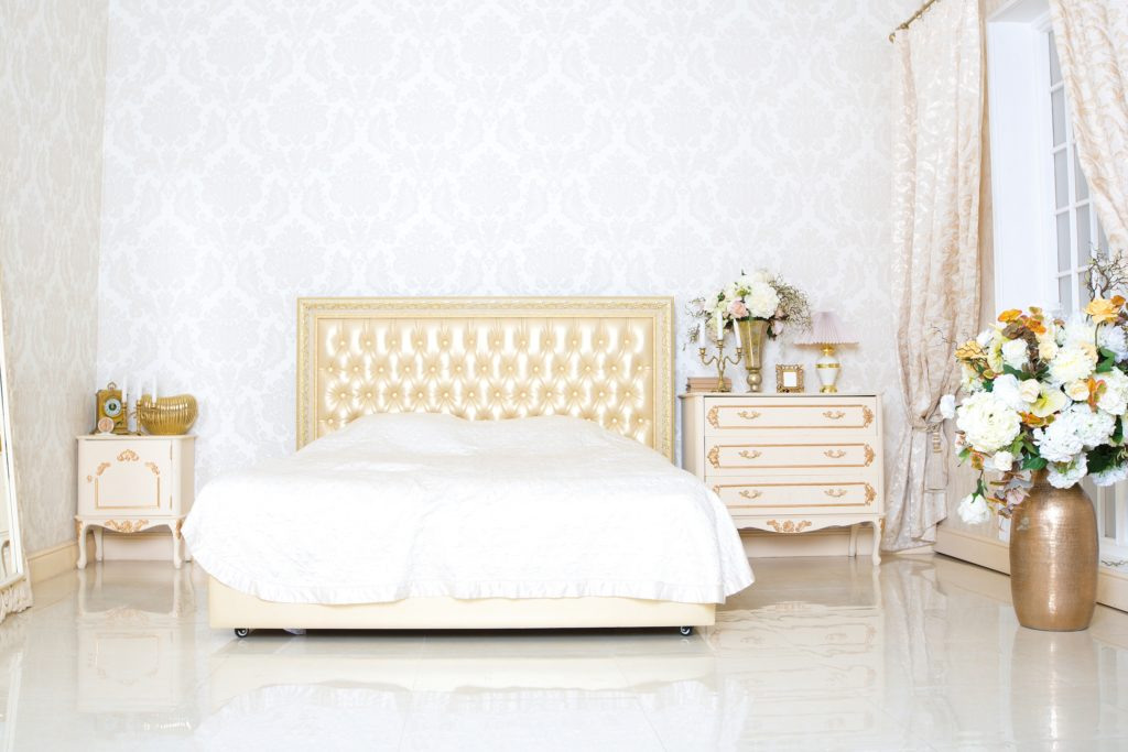 White and Gold Bedroom