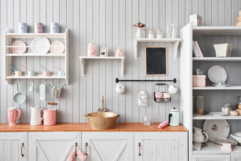 Blush Kitchen Shelf