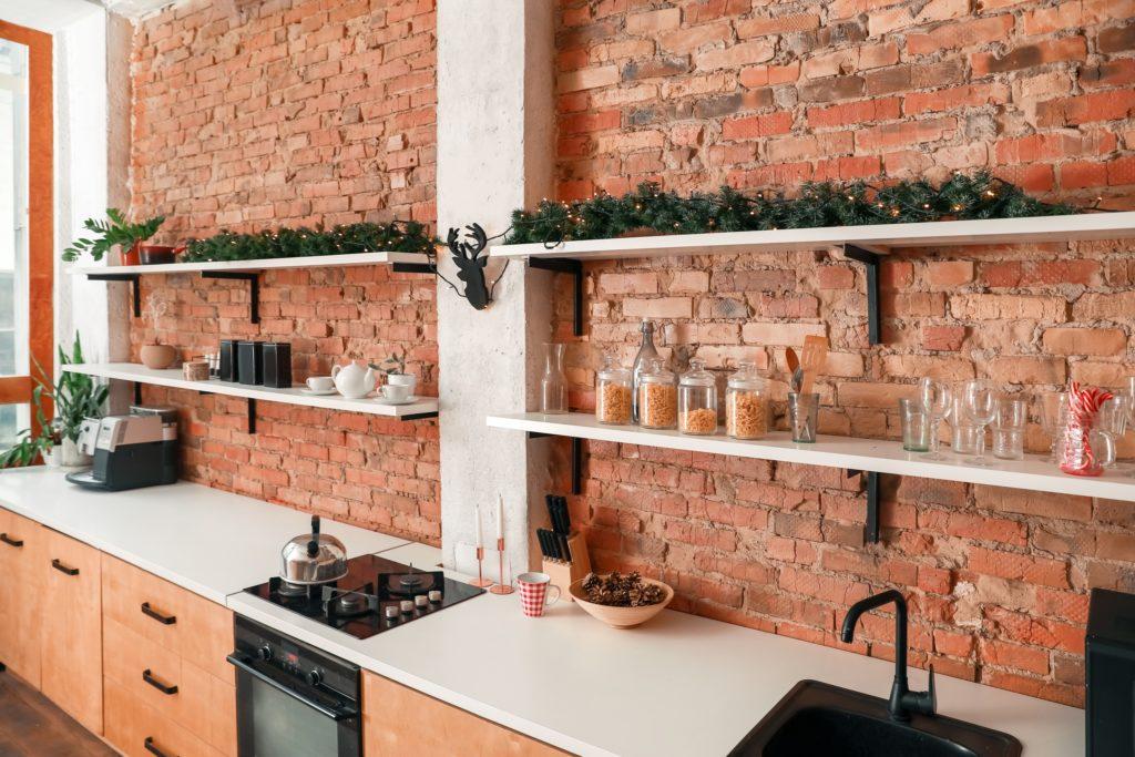 Brick Wall Shelves