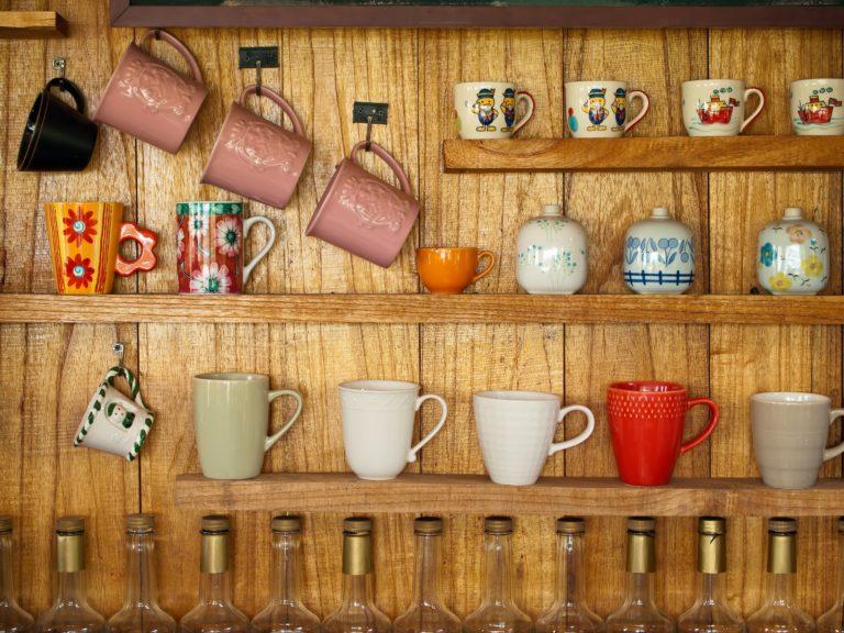 Cups Kitchen Shelves