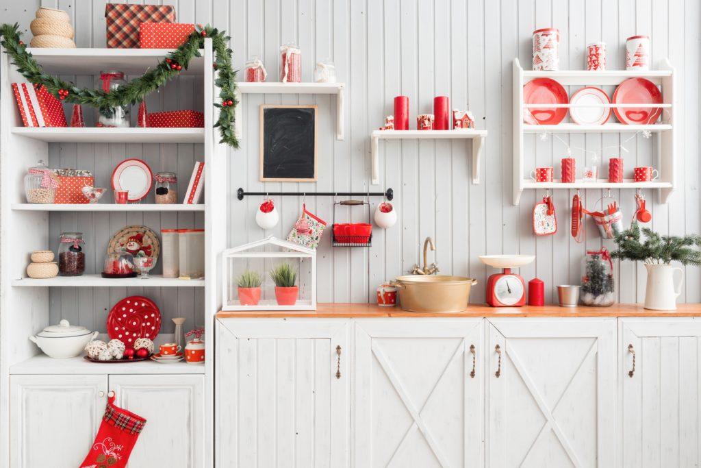 Holiday Kitchen Shelf