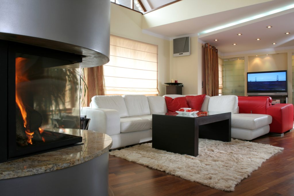 Large Fireplace and TV Room