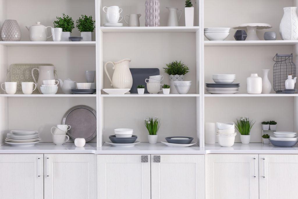 Open Cupboard Shelves