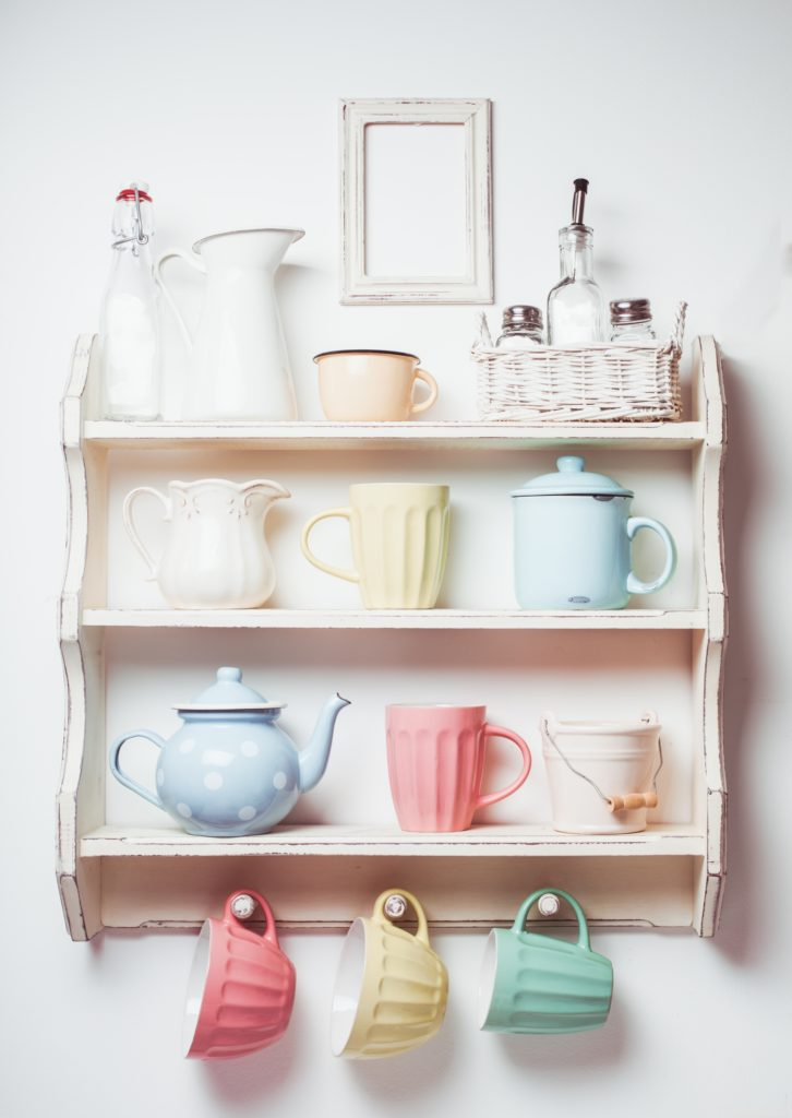 Pastels on Shelf