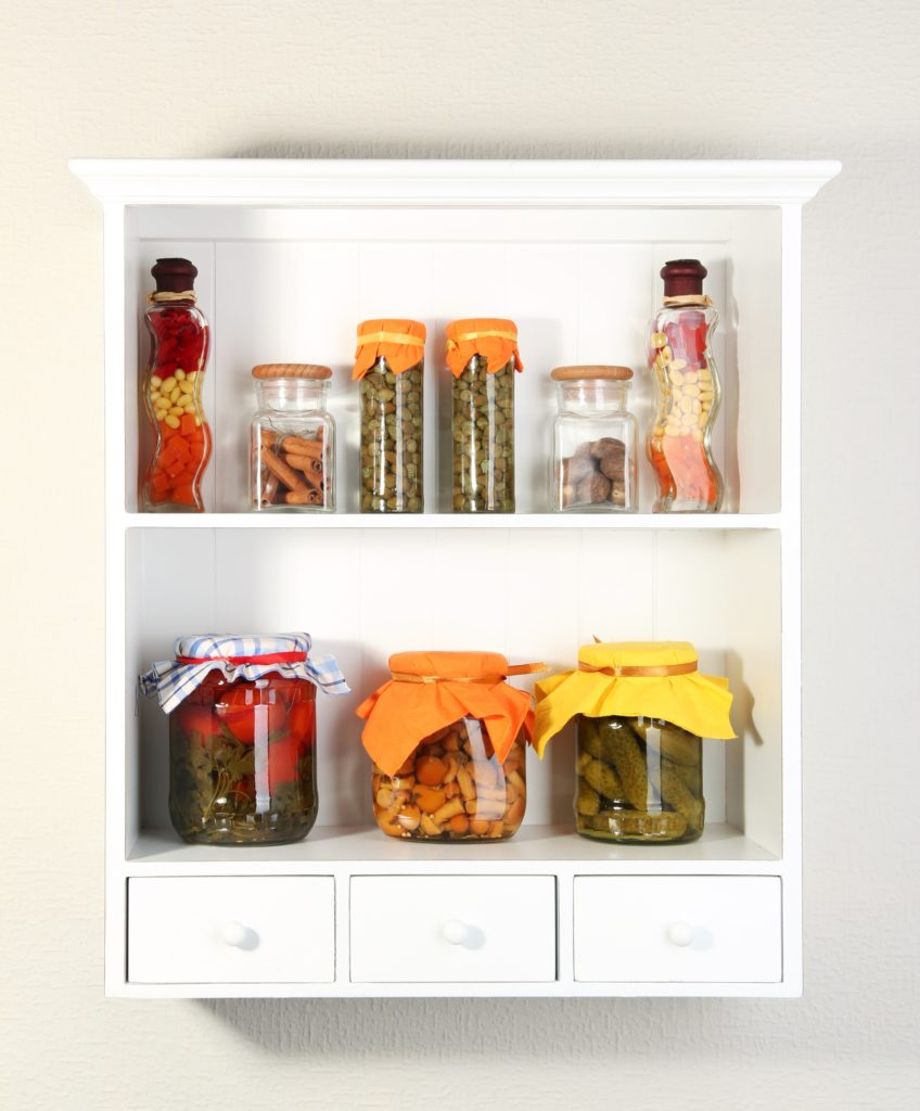 Preserves and Spices Shelf