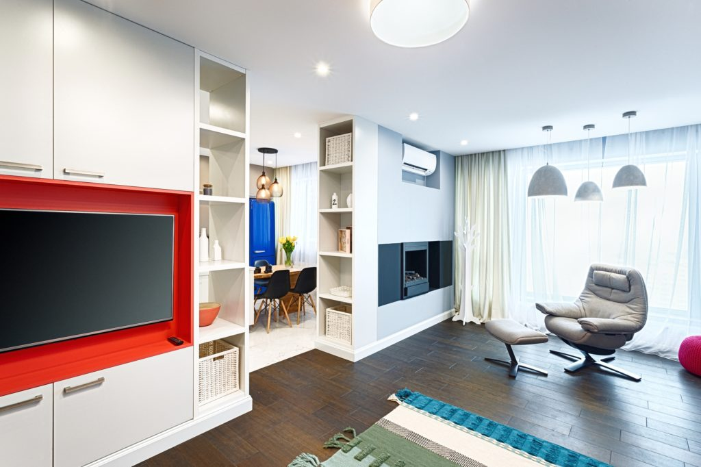Separate TV and Fireplace