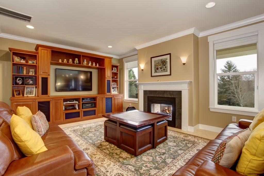 Stone Floor Living Room