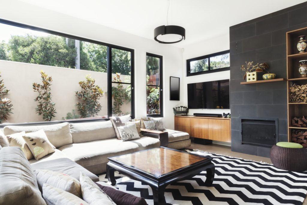 Striped Rug Living Room