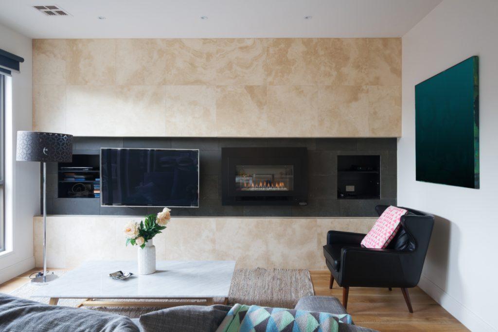 TV Fireplace Side by Side