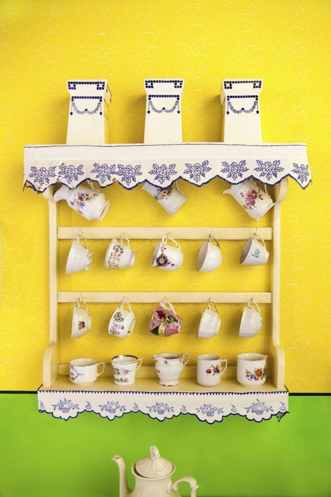 Vintage Teacup Shelves
