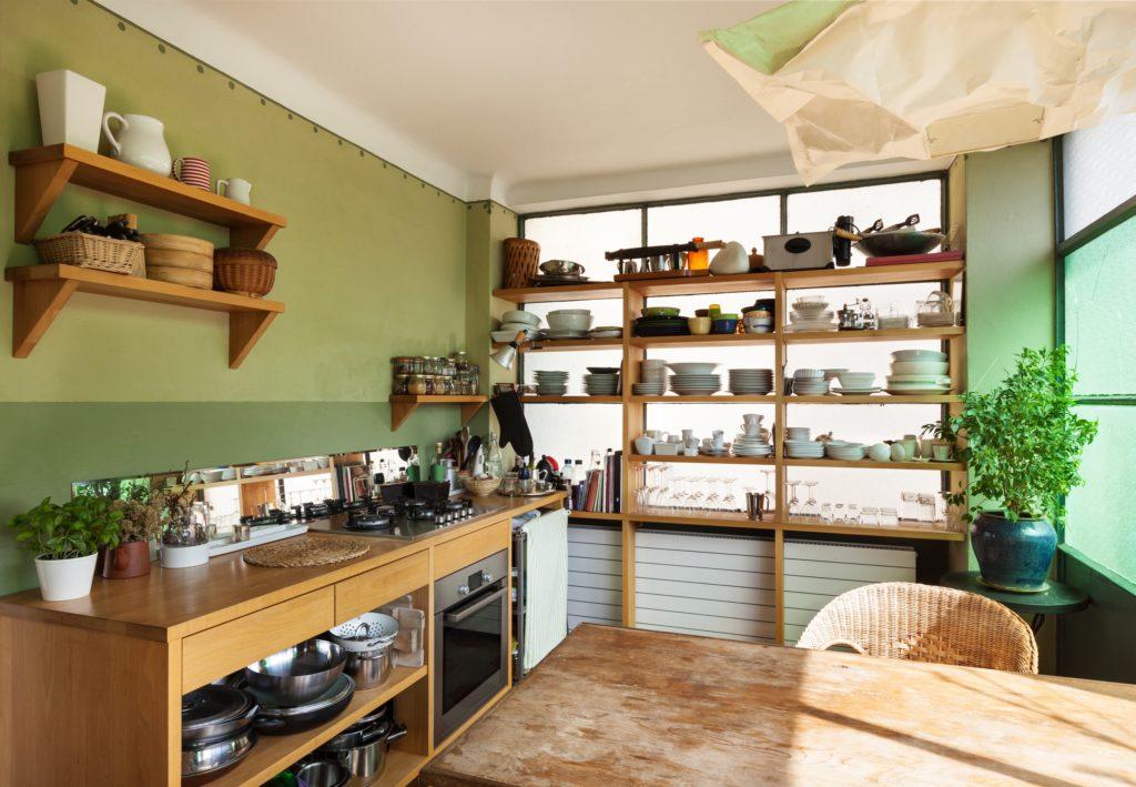 Window Kitchen Shelves