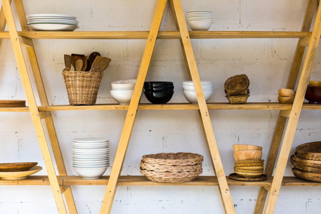 Wood Kitchen Shelves
