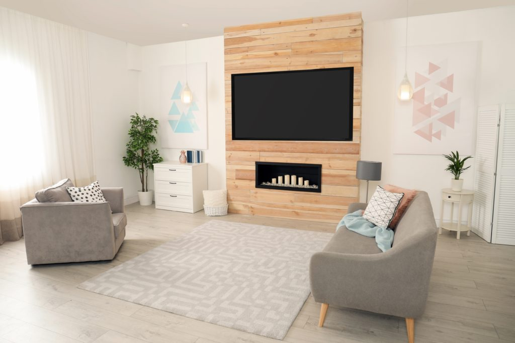 Wood Wall Living Room