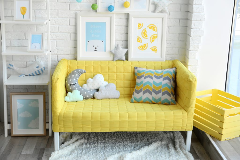 Children's Sofa and Pillows