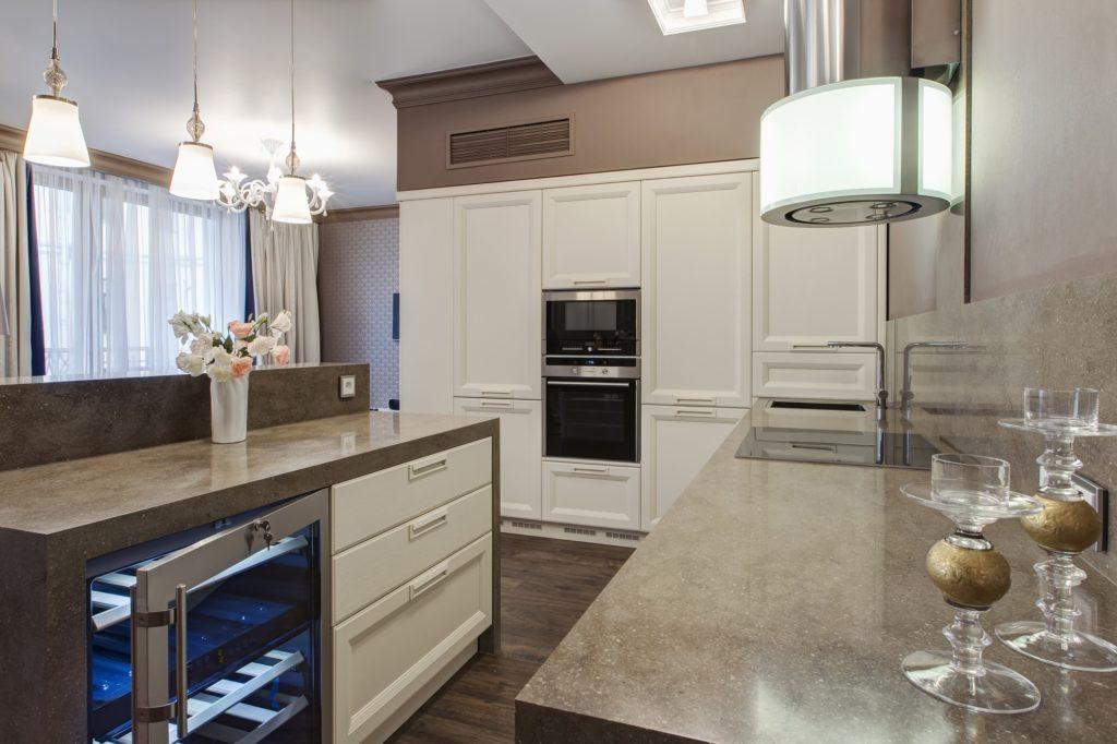 Gray Marble Kitchen