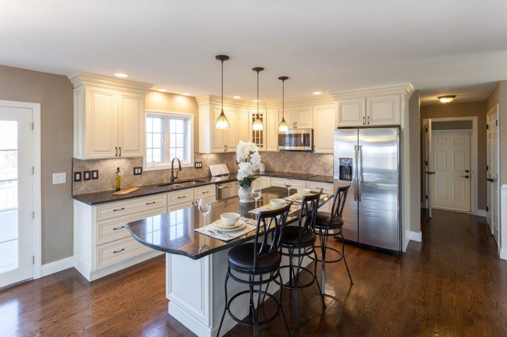 Kitchen with Dark Wood Floors
