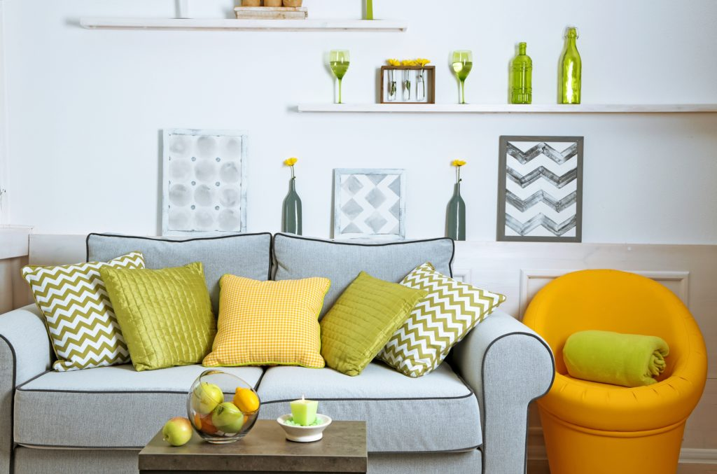 Lime green Pillows