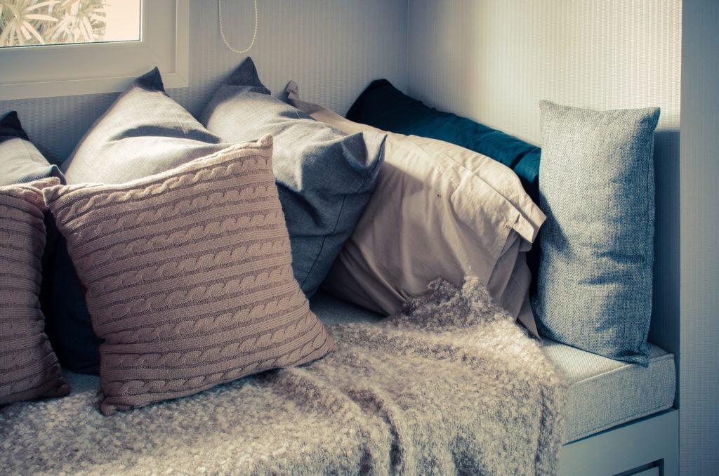 Pillows on Blanket