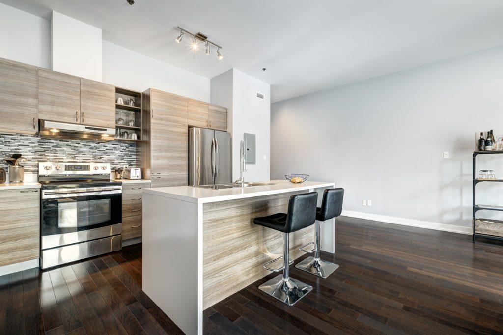 Wood Floors Modern Kitchen