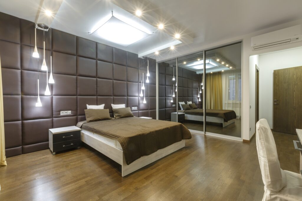 Master Bedroom with Soft Brown Palette in Luxury Apartment