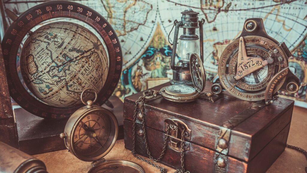 Antique travel accessories