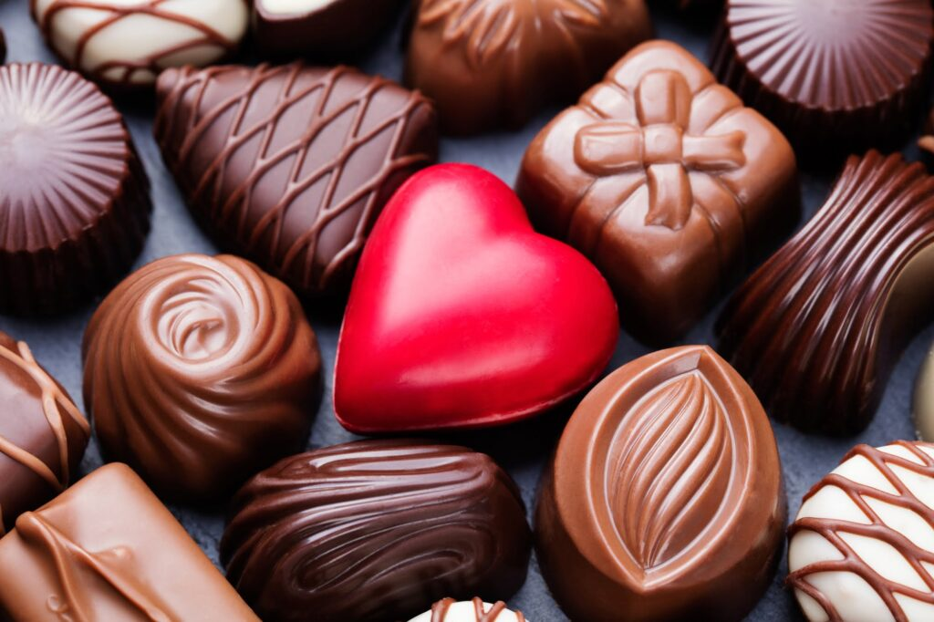 Assortment of fine chocolates