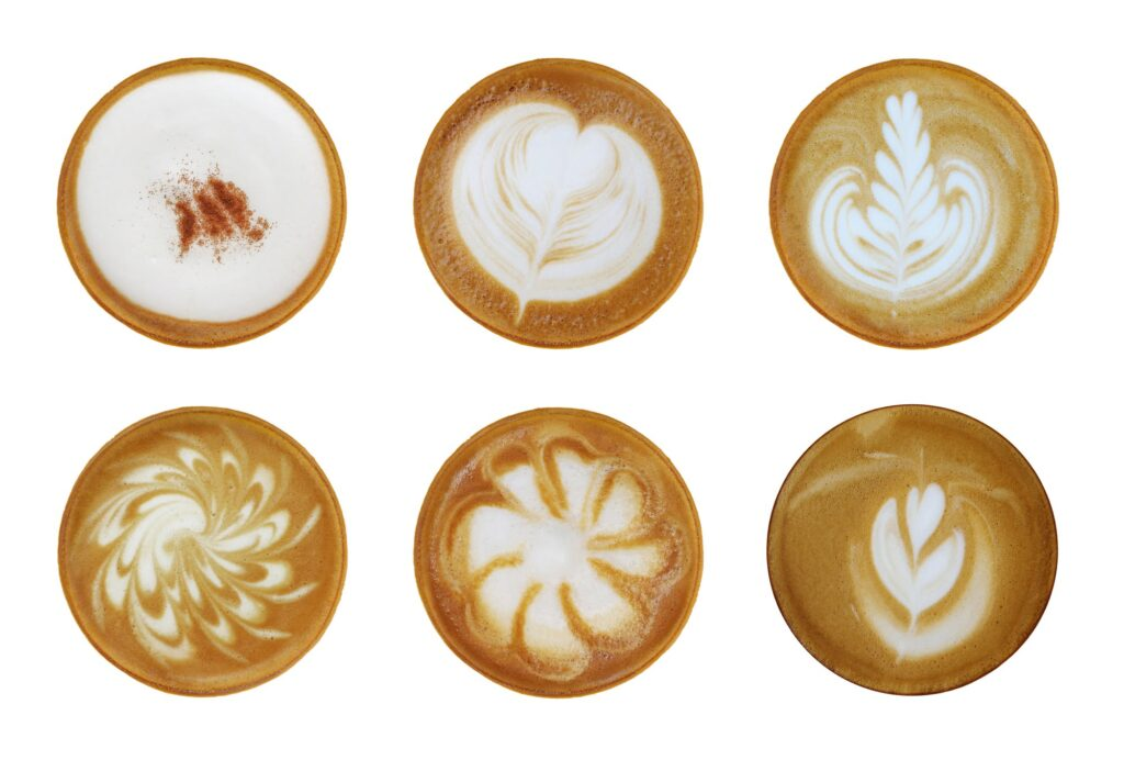 Collection coffee foam art