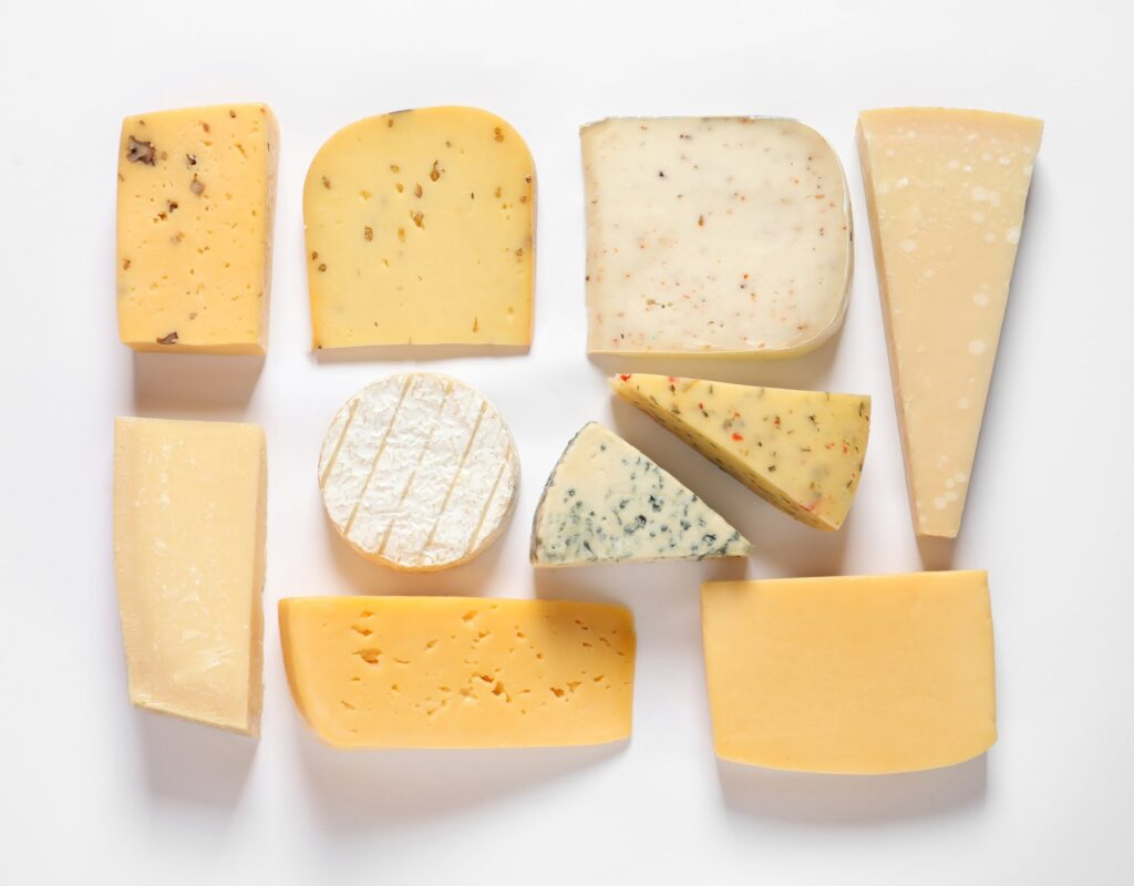 Composition of tasty cheese