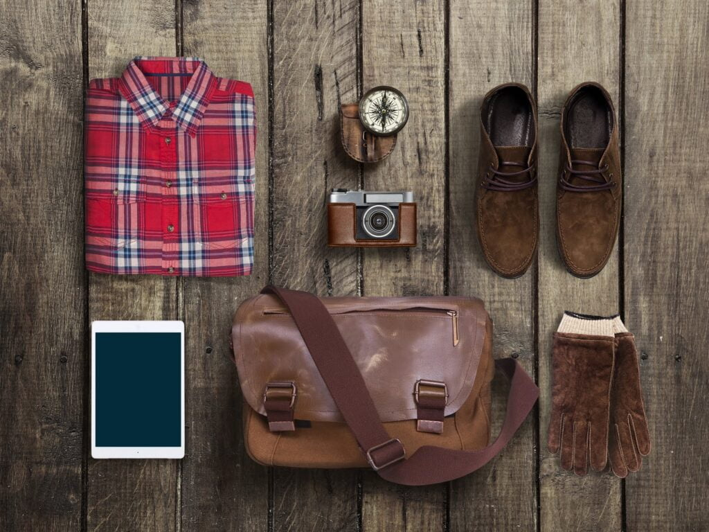 Hipster clothes and accessories
