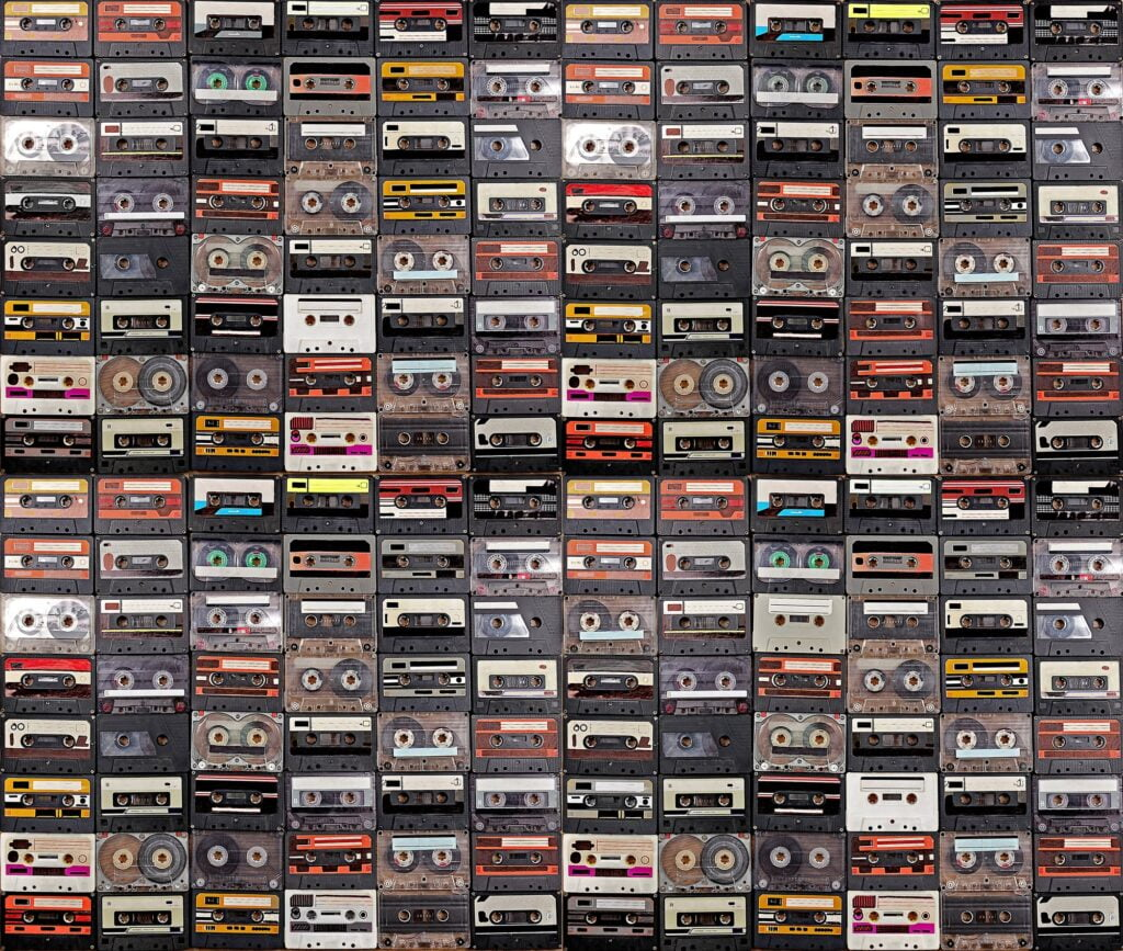 Huge collection of audio cassettes