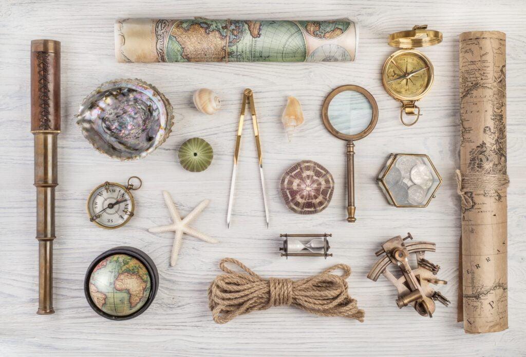 Vintage travel accessories
