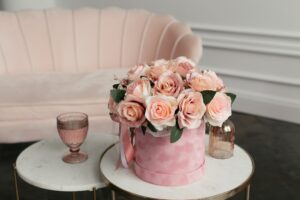 Table with Bouquet