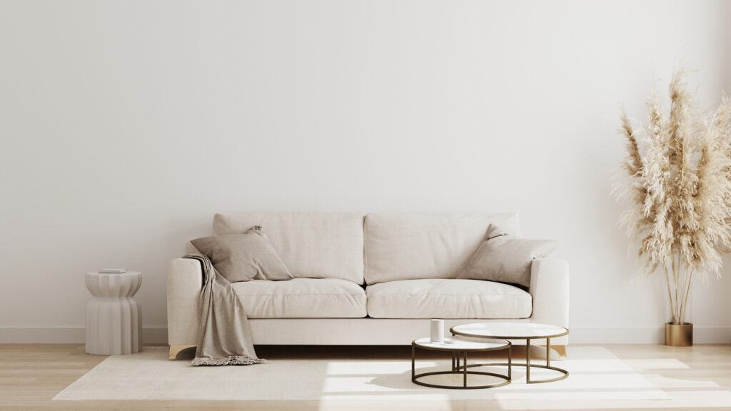 Light Gray Pillows and Blanket