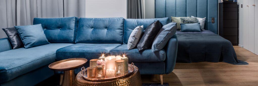 Various Shades of Blue Pillows