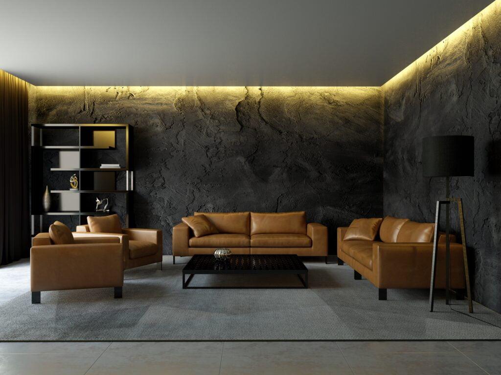 Black Plaster Walls