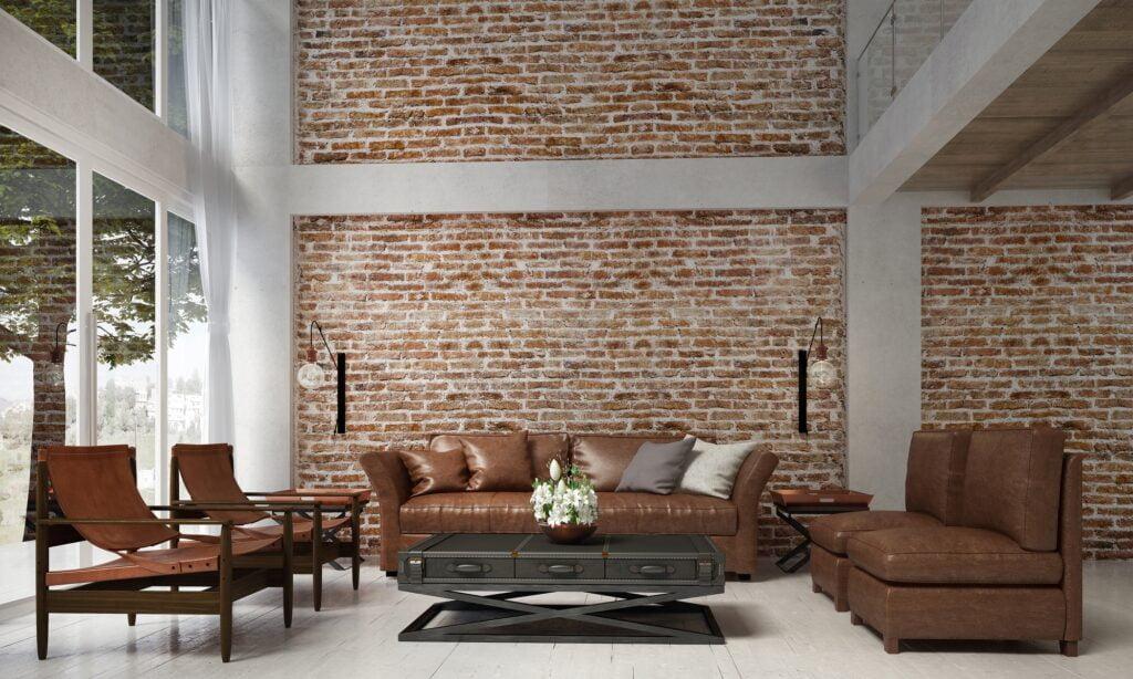 Reddish Brown Brick Wall