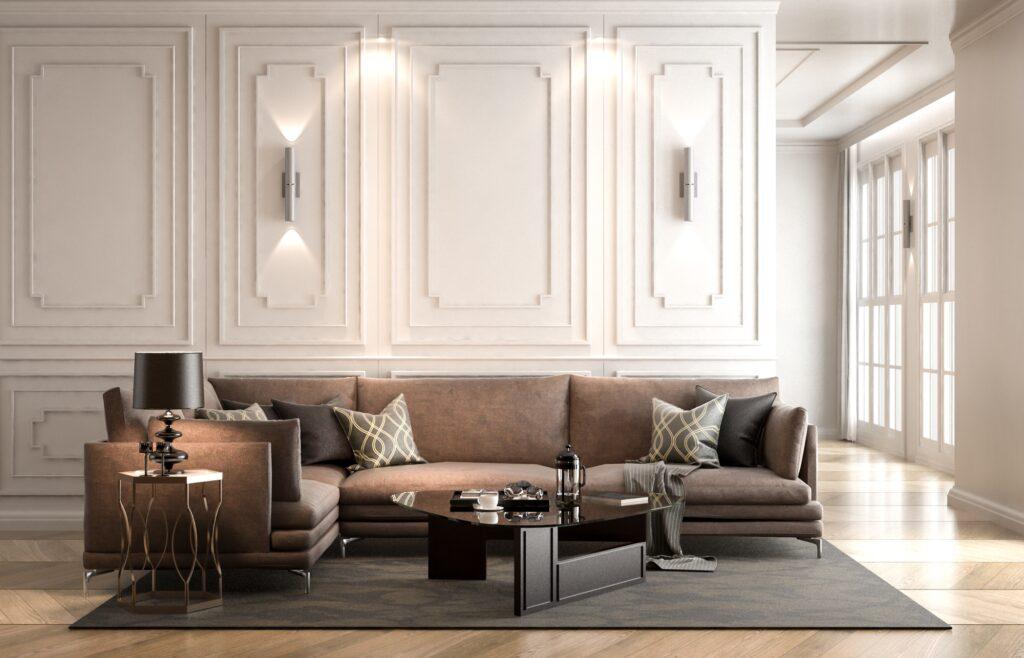 White Paneled Wall
